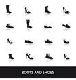 boots and shoes eps10 vector image vector image