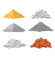 building material piles red and lime brick vector image