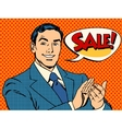 Businessman sale applause vector image vector image