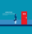 businesswoman searching for job man standing vector image