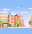 cartoon city in bright vector image vector image