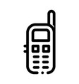 cellular telephone symbol icon outline vector image vector image