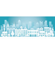 city in winter background vector image