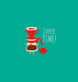 coffee dripper filter pour over maker image vector image