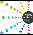 colorful mothers day greeting design vector image