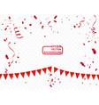 confetti and red ribbons concept celebration vector image vector image