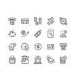 credit and loan related icon set vector image