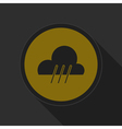 dark gray and yellow icon - rainy vector image vector image