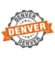 denver round ribbon seal vector image vector image