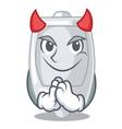 devil urinal in the a cartoon bathroom vector image