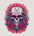 dia de los muertos mexican skull vector image vector image