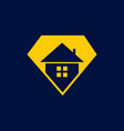 diamond house logo vector image