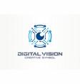 digital vision creative symbol concept circuit vector image vector image