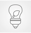 eco light bulb icon sign symbol vector image