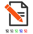 edit records flat icon vector image