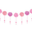elegant dangling pink birthday party paper vector image vector image