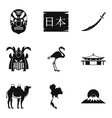 epoch icons set simple style vector image vector image
