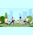 family marathon people jogging woman kids sport vector image vector image