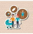 Flat of family design people icon vector image
