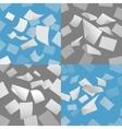 Flying blank paper sheets set vector image vector image