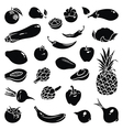 Fruits Vegetables Icons vector image vector image