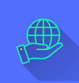 globe - icon for graphic and web design vector image