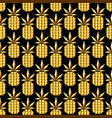 golden jewelry pineapple seamless pattern vector image vector image
