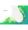 green wavy background template vector image vector image
