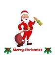 Greeting Cards Merry Christmas with Santa vector image vector image