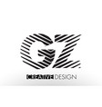 gz g z lines letter design with creative elegant vector image