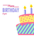 happy birthday to you cake background image vector image