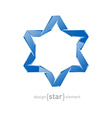 ice star of David on white background vector image vector image