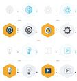 icons design 4 styles play light Setting vector image vector image