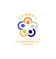 international school social community flat vector image