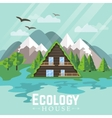 Landscape Green House Ecology vector image
