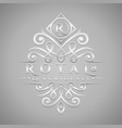 letter r logo - classic luxurious silver vector image vector image