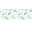 lineart spring leaves horizontal border vector image vector image