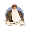 major arcana emblem tarot card the emperor man vector image vector image