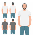 Men t-shirt design template vector image vector image