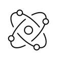 monochrome molecule model icon vector image vector image