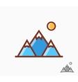 mountains icon or logo vector image vector image
