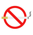 no cigarette vector image
