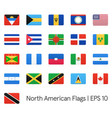 north american flags icons set vector image