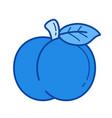 peach line icon vector image vector image