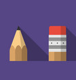 pencil icon in flat design with shadow on ultra vector image vector image