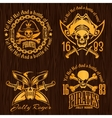 Pirate labels set - design for badges logos and t vector image vector image