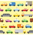 Pixel art cars seamless pattern vector image vector image