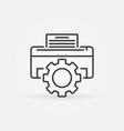 printer repair concept icon in outline vector image