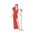 professional jazz singer vocalist or songstress vector image vector image