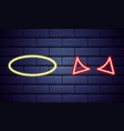 realistic isolated neon sign angel nimbus and vector image vector image